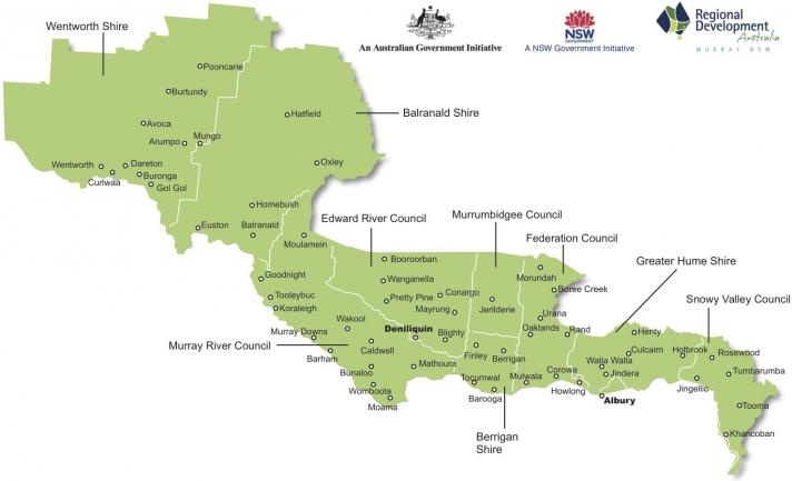 Australia Map Murray River.Location Rda Murray